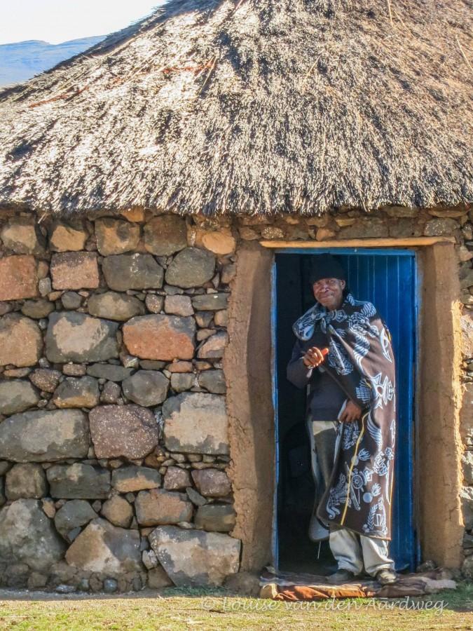 Man in hut Lesotho