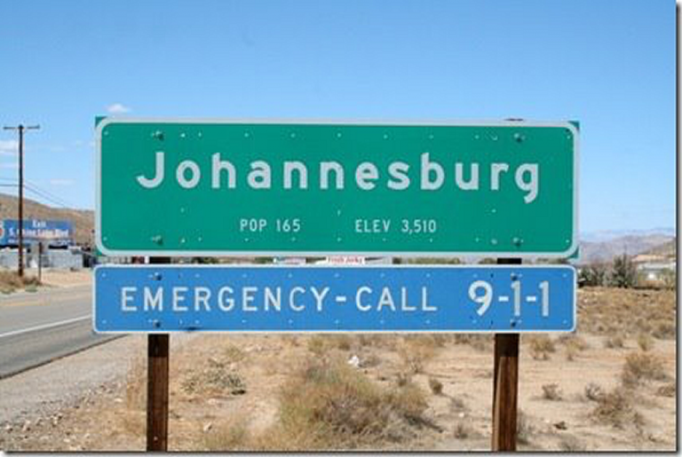 Really? Johannesburg in California? And Durban in France?