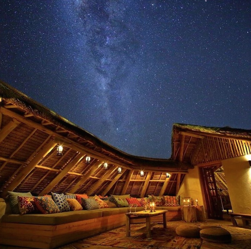 Star-gazing at Finch Hattons lodge.