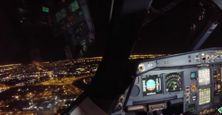 WATCH Spectacular Nighttime Take-Off Joburg to Perth