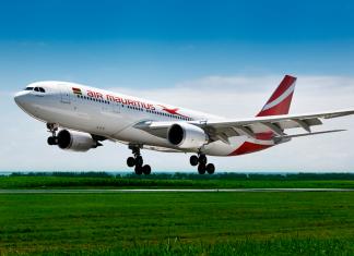 air mauritius plane air travel tr