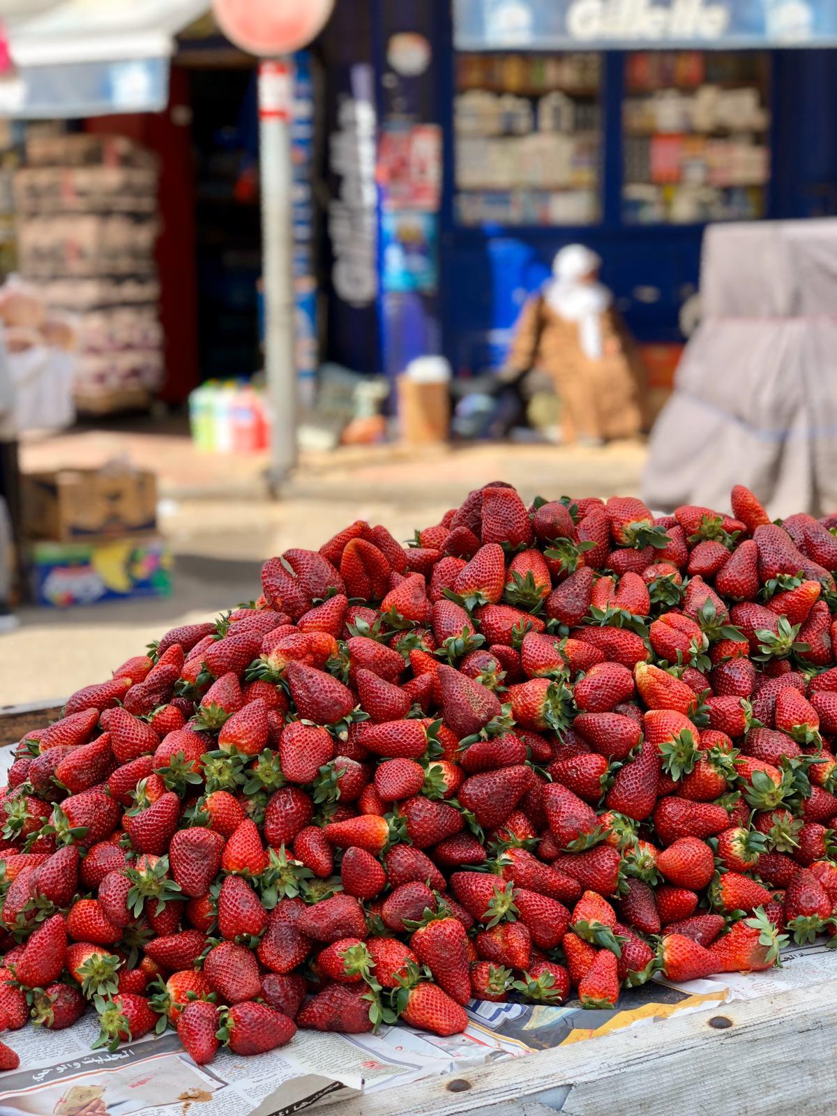morocco bruce marais travel photography market strawberries