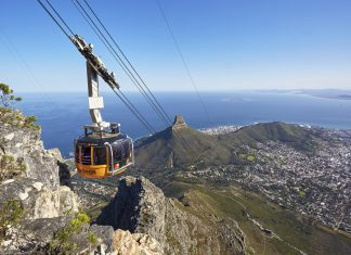 table mountain cape town cable car travel