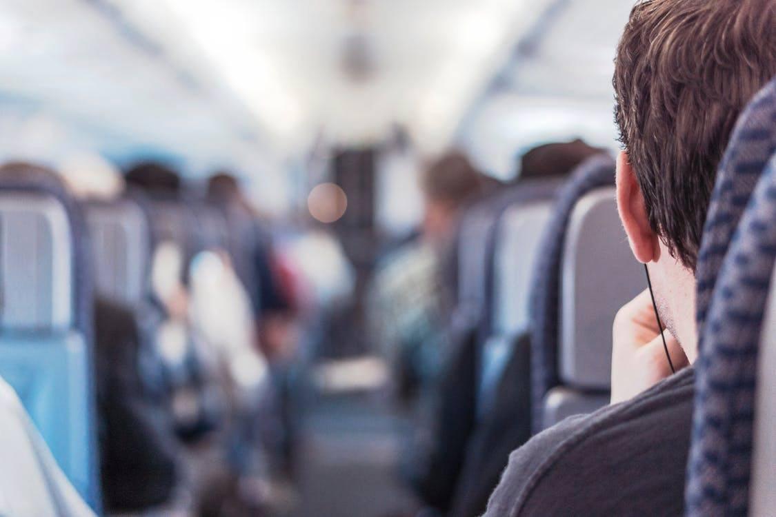 airplane seat flying travel