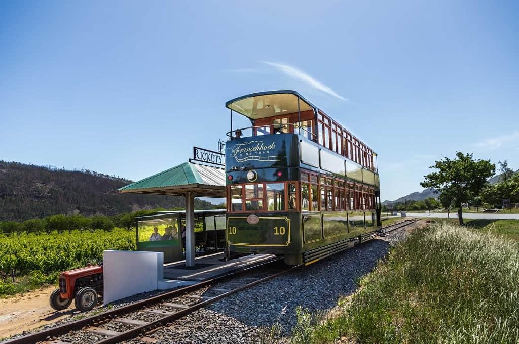 wine tram vineyards cape south africa franschhoek travel