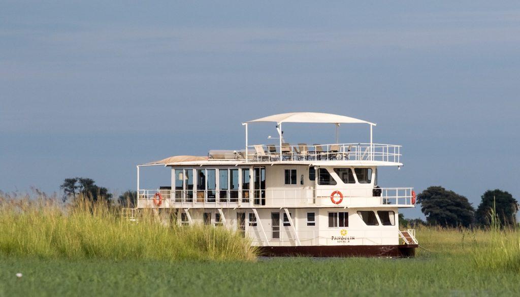 chobe national park pangolin houseboat