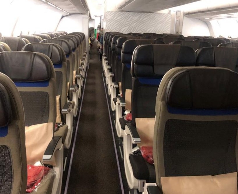 south african airways empty seats