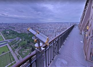 eiffel tower paris google tour virtual