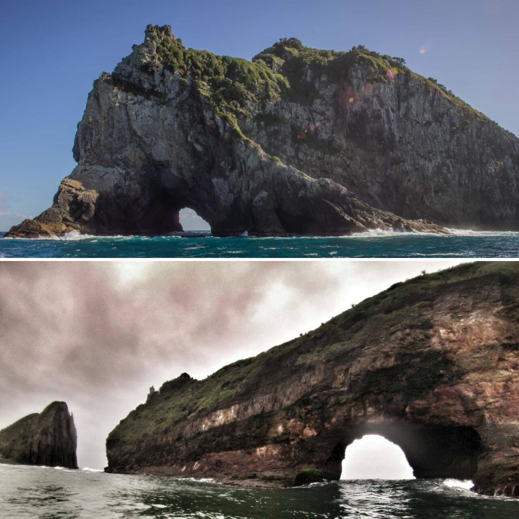 hole in the wall hole in the rock new zealand south africa split picture travel