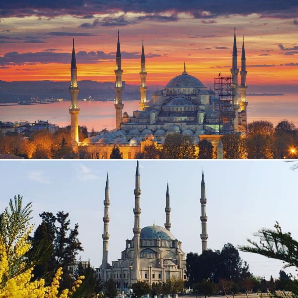 sultanamet niyamize mosque istanbul johannesbrg travel split picture