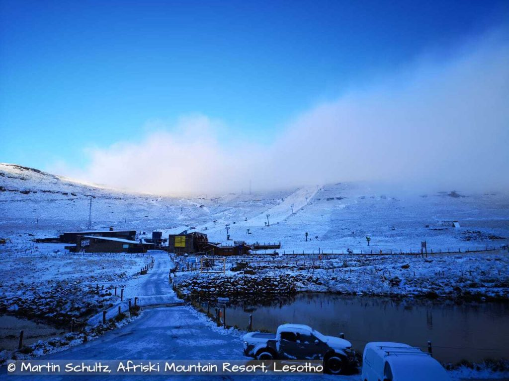 snow fall lesotho southern africa