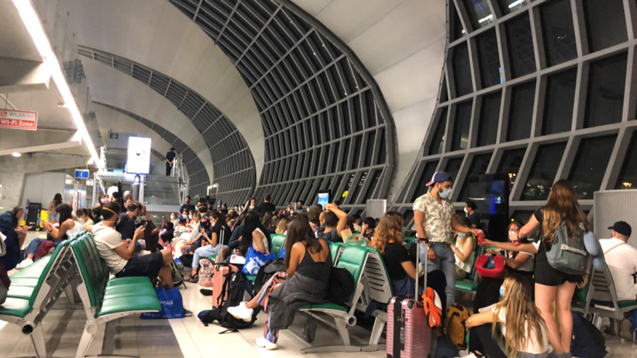 bangkok departure hall south african abroad before lockdown