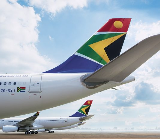 south african airways travel cargo