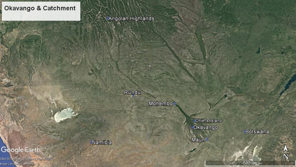 okavango map botswana
