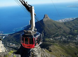 table mountain cableway cape town south africa travel