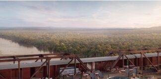 kruger shalati train on a bridge hotel south africa kruger