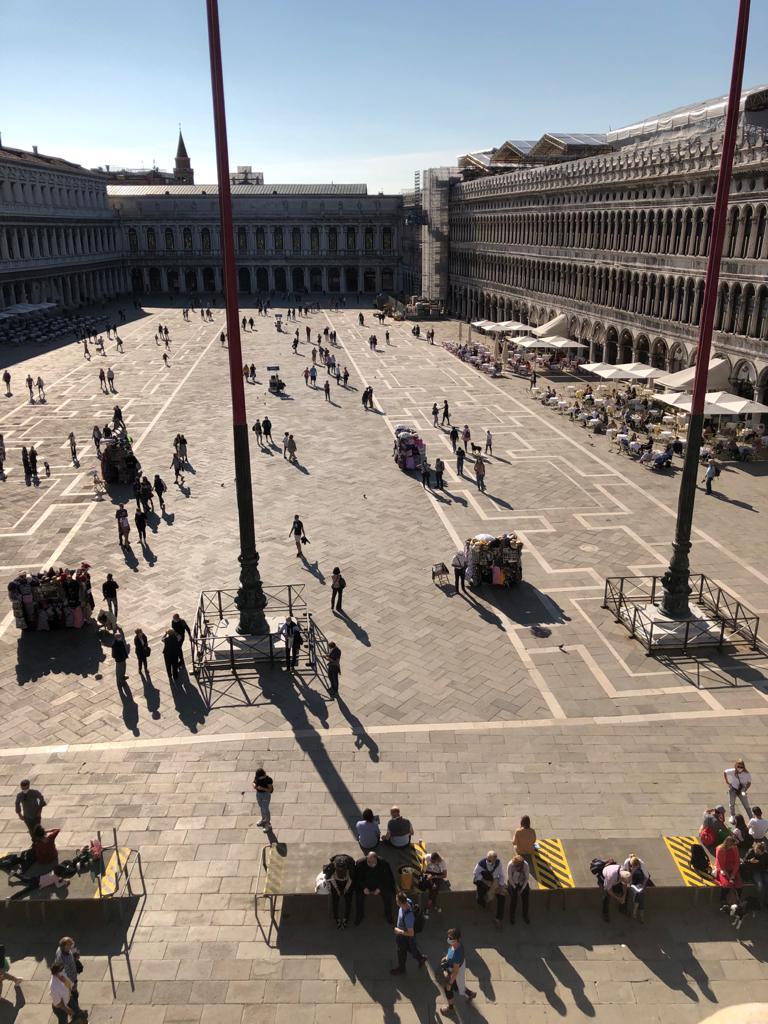 venice empty san marcos piazza