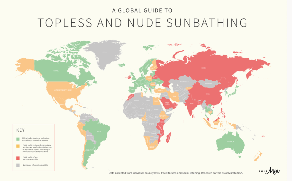 a global guide to topless and nude sunbathing